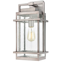 Bowery + Grove 50230-WZSI Loft 1 Light 19 inch Weathered Zinc Outdoor Sconce