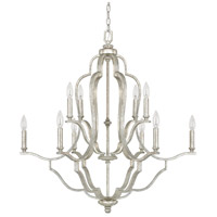 Bowery + Grove 55052-AS Luke 10 Light 33 inch Antique Silver Chandelier Ceiling Light