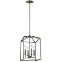 Bowery + Grove 52745-HB East Point 4 Light 16 inch Heirloom Bronze Foyer Pendant Ceiling Light