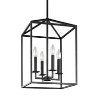 Bowery + Grove 51321-B East Point 4 Light 16 inch Blacksmith Foyer Light Ceiling Light