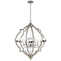 Bowery + Grove 55241-WP Bastrop 6 Light 25 inch Washed Pine Hall Foyer Ceiling Light