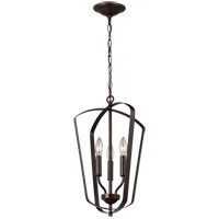 Bowery + Grove 53398-HB Barrett 3 Light 13 inch Heirloom Bronze Hall Foyer Ceiling Light