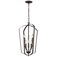 Bowery + Grove 53403-HB Barrett 6 Light 15 inch Heirloom Bronze Hall Foyer Ceiling Light