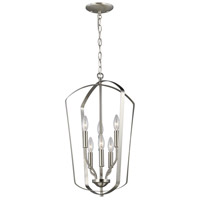 Bowery + Grove 53404-BN Barrett 6 Light 15 inch Brushed Nickel Hall Foyer Ceiling Light