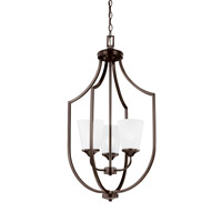 Bowery + Grove 52567-BSSE Garwood 3 Light 18 inch Burnt Sienna Foyer Pendant Ceiling Light