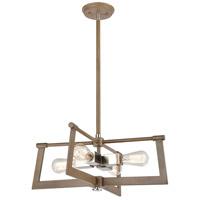Bowery + Grove 57661-LWI Greyson 4 Light 21 inch Light Wood with Satin Nickel Pendant Ceiling Light