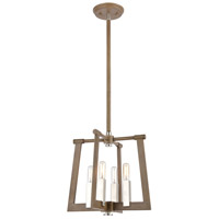 Bowery + Grove 57662-LWI Greyson 4 Light 13 inch Light Wood with Satin Nickel Pendant Ceiling Light