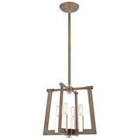 Bowery + Grove 57662-LWI Greyson 4 Light 13 inch Light Wood with Satin Nickel Pendant Ceiling Light