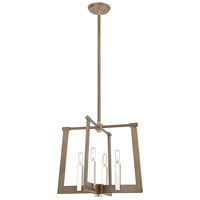 Bowery + Grove 57663-LWI Greyson 4 Light 18 inch Light Wood with Satin Nickel Pendant Ceiling Light