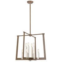 Bowery + Grove 57664-LWI Greyson 8 Light 24 inch Light Wood with Satin Nickel Pendant Ceiling Light