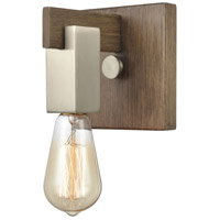 Bowery + Grove 58800-LW Greyson 6 inch Light Wood/Satin Nickel Vanity Light Wall Light