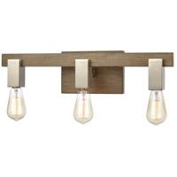 Bowery + Grove 58802-LW Greyson 21 inch Light Wood/Satin Nickel Vanity Light Wall Light