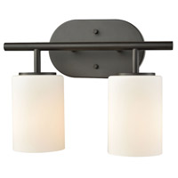 Bowery + Grove 50068-ORW Elif 2 Light 13 inch Oil Rubbed Bronze Vanity Light Wall Light