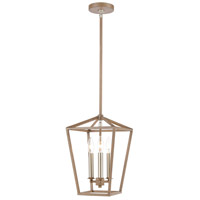 Bowery + Grove 57703-LWI Atwood Pl 3 Light 9 inch Light Wood with Satin Nickel Mini Pendant Ceiling Light