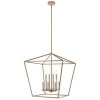 Bowery + Grove 57705-LWI Atwood Pl 8 Light 24 inch Light Wood with Satin Nickel Pendant Ceiling Light