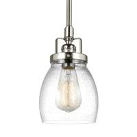 Bowery + Grove 51344-BNCS Luca 1 Light 5 inch Brushed Nickel Mini Pendant Ceiling Light
