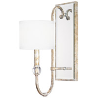 Bowery + Grove 55057-SG Aversa 1 Light 6 inch Silver and Gold Leaf Sconce Wall Light