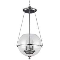 Bowery + Grove 50884-CCG Logan 3 Light 15 inch Chrome Pendant Ceiling Light