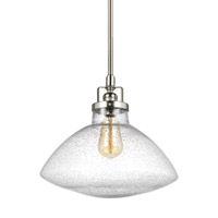 Bowery + Grove 51348-BNCS Luca 1 Light 13 inch Brushed Nickel Pendant Ceiling Light