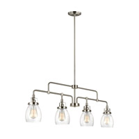 Bowery + Grove 52125-BNCS Luca 4 Light 41 inch Brushed Nickel Linear Pendant Ceiling Light