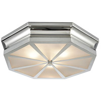 Bowery + Grove 50158-PNF Genova Ln 3 Light 20 inch Polished Nickel Flush Mount Ceiling Light