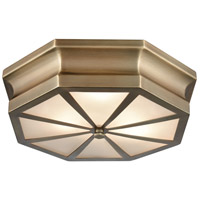 Bowery + Grove 50160-CBF Genova Ln 3 Light 16 inch Classic Brass Flush Mount Ceiling Light
