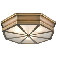 Bowery + Grove 50161-CBF Genova Ln 3 Light 20 inch Classic Brass Flush Mount Ceiling Light