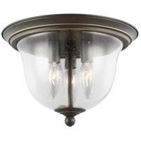 Bowery + Grove 52392-HBCS Luca 3 Light 11 inch Heirloom Bronze Flush Mount Ceiling Light