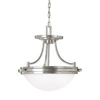 Bowery + Grove 53017-BNSE Alba 2 Light 14 inch Brushed Nickel Semi-Flush Convertible Pendant Ceiling Light