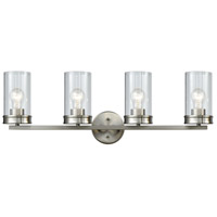 Bowery + Grove 58325-SNCB Glencairn Rd 4 Light 31 inch Satin Nickel Vanity Light Wall Light