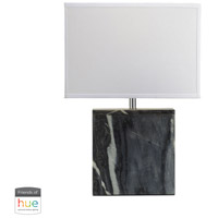 Bowery + Grove 50025-GML Arnold Ave 20 inch 60 watt Grey Marble Table Lamp Portable Light in Dimmer Hue LED Philips Friends of Hue