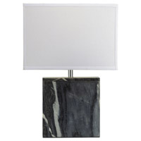 Bowery + Grove 54718-GM Arnold Ave 20 inch 150 watt Grey Marble Table Lamp Portable Light in Incandescent 3-Way