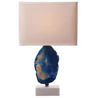 Bowery + Grove 54474-B Grace Ave 28 inch 100 watt Blue Table Lamp Portable Light in Incandescent 3-Way