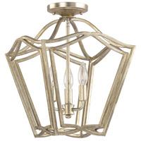 Bowery + Grove 55098-WG Tatum 3 Light 13 inch Winter Gold Foyer Pendant Ceiling Light