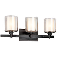Bowery + Grove 51192-FI Imola 3 Light 22 inch French Iron Bath Vanity Wall Light