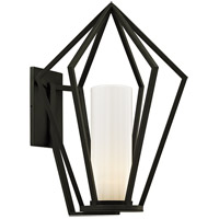 Bowery + Grove 55217-TBOW Port Laoise 1 Light 25 inch Textured Black Outdoor Wall Sconce