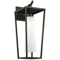 Bowery + Grove 55195-TBOW Harlequin 1 Light 23 inch Textured Black Outdoor Wall Sconce