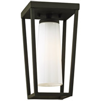 Bowery + Grove 55220-TBOW Harlequin 1 Light 6 inch Textured Black Outdoor Semi Flush Mount