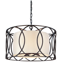 Bowery + Grove 51392-DB Earth 5 Light 25 inch Deep Bronze Pendant Dining Ceiling Light