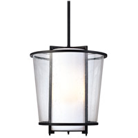 Bowery + Grove 54745-FB Granville Ave 3 Light 14 inch Forged Bronze Pendant Ceiling Light in Incandescent