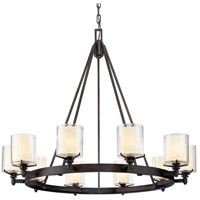 Bowery + Grove 51395-FI Imola 10 Light 40 inch French Iron Chandelier Ceiling Light