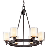 Bowery + Grove 51180-FI Imola 6 Light 27 inch French Iron Chandelier Ceiling Light