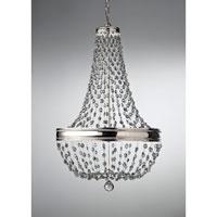 Bowery + Grove 50963-PN Allenfarm 8 Light 21 inch Polished Nickel Chandelier Ceiling Light