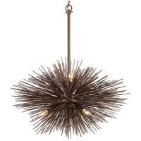 Bowery + Grove 53155-TB Audio 6 Light 30 inch Tidepool Bronze Pendant Ceiling Light