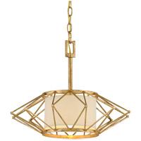 Bowery + Grove 51206-RG Escobas 1 Light 18 inch Rustic Gold Leaf Pendant Ceiling Light