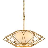 Bowery + Grove 51207-RG Escobas 4 Light 26 inch Rustic Gold Leaf Pendant Ceiling Light