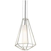 Bowery + Grove 51438-SLGO Arizona Ave 1 Light 16 inch Silver Leaf Pendant Ceiling Light