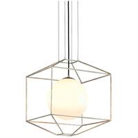 Bowery + Grove 51439-SLGO Arizona Ave 1 Light 18 inch Silver Leaf Pendant Ceiling Light
