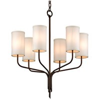 Bowery + Grove 53086-JBI Jason 6 Light 26 inch Jason Bronze Chandelier Ceiling Light