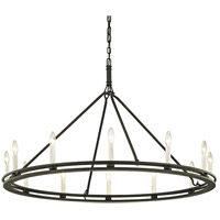 Bowery + Grove 53122-TBI Appian Way 12 Light 44 inch Textured Black Chandelier Ceiling Light